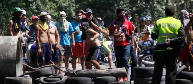Protesta de maleteros
